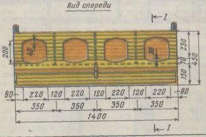 Схема постройки насеста